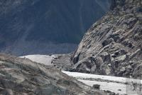 Mer de glace rocks and ice