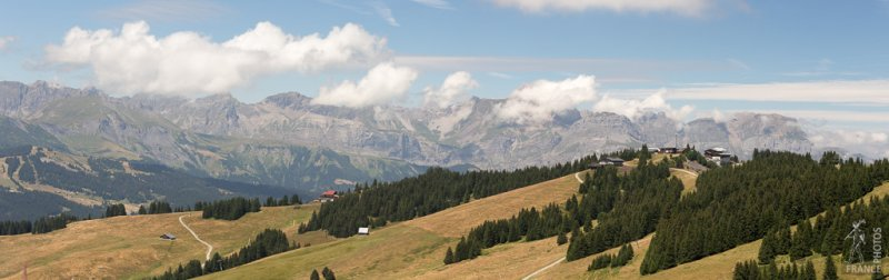 The Aravis panorama