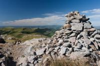 Cairn at the top of the puy Marie