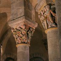 Saint Nectaire church pillar tops