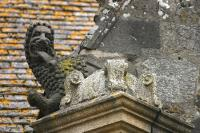 Roaring lion on the church of Sizun
