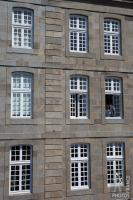 Old city apartment windows