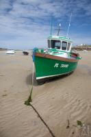 Stranded firshing boat