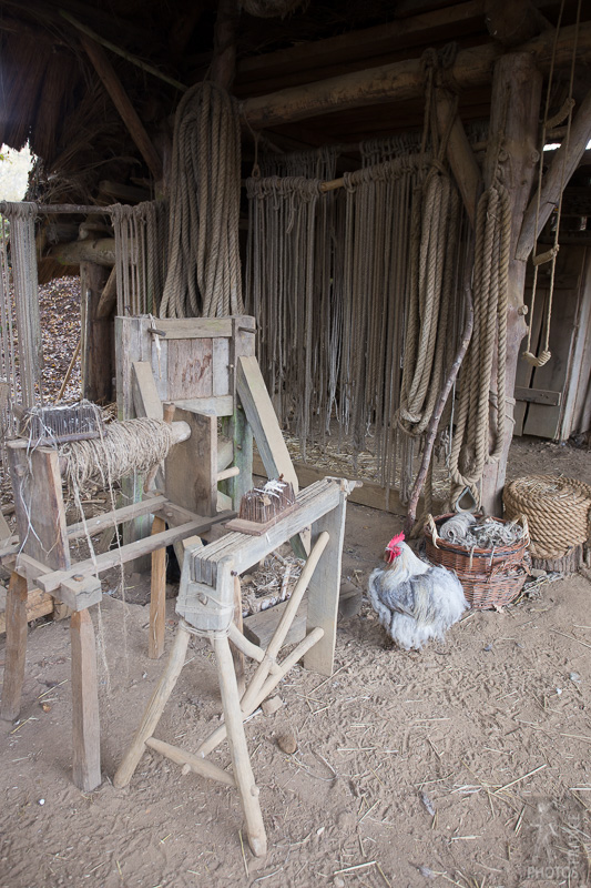 Rope maker's workshop