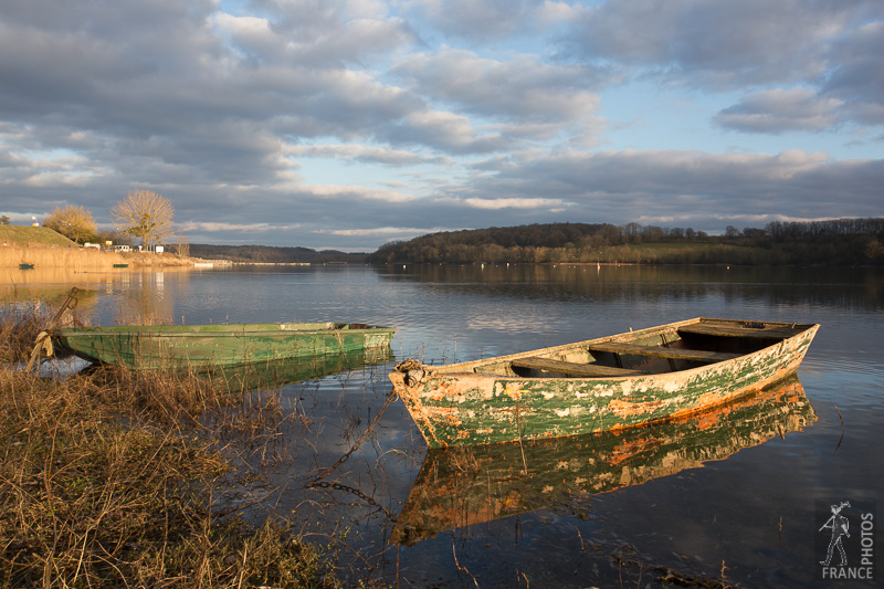 Weathered rowboats