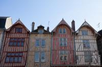 Half timbered houses row