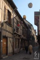 Morning walk in the medieval Troyes