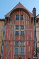 Red half timbered house