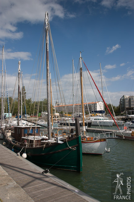 Old sailboats in La Rochelle