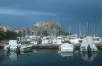 Calvi harbour and fortress