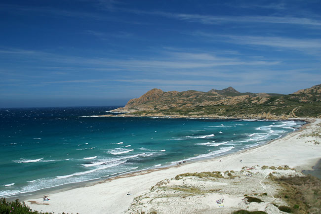The Ostriconi river mouth, typical beach of Corsica