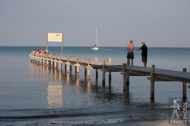 Discussion on the pier