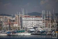 Splendid hotel and old harbor
