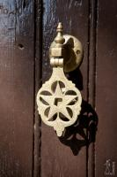 Golden star door knocker