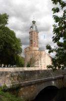 Tower near the canal in Crecy la Chapelle
