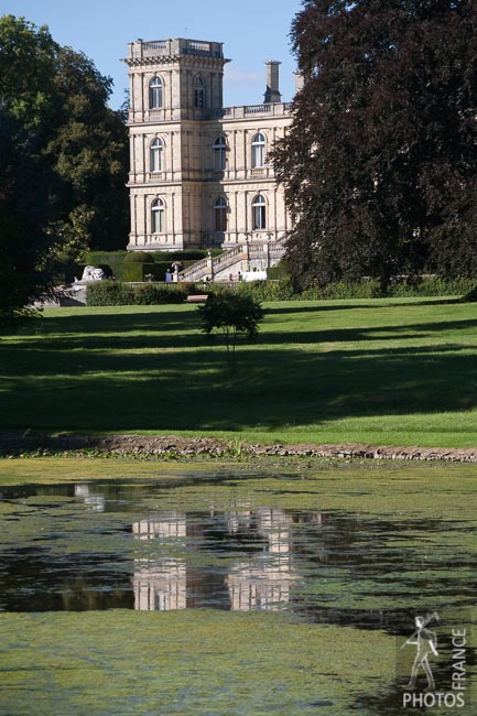 Castle reflection