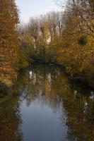 The Marne river in Fall colors