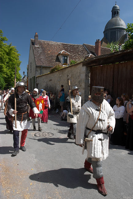 Men at arms: Provins medieval parade