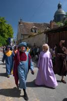 Town officials at the Provins medieval parade