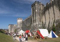 Camp by the remparts of Provins