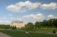 The Castle of Sceaux in the evening