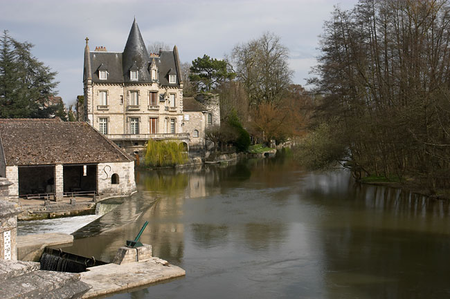 View from the bridge of Moret sur Loing