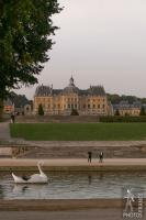 Swan boat on the Vaux le Vicomte main basin