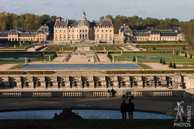 A view on the Vaux le Vicomte château
