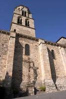 The Saint Pierre church bell-tower in Uzerche