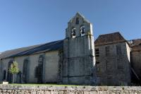 Church and castle at Magnat l'Etrange
