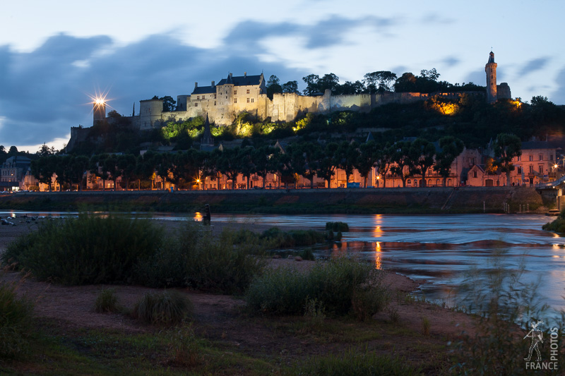 Chinon at night