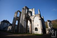 Valmont abbey church ruins