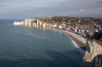 General view on Etretat