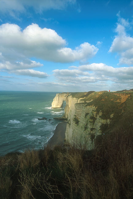 Clouds above the Etretat Cliffs