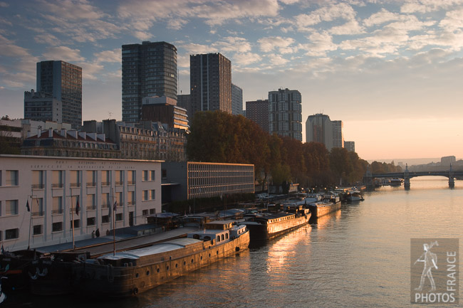 Golden hour in the 15th arrondissement