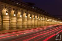 Bercy viaduct at night