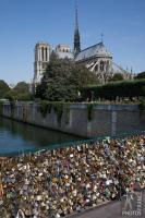 Love padlocks and Notre Dame