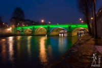 The Pont Marie painted with light for the olympics