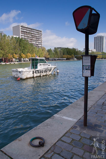 School boat on the Bassin de la Villette