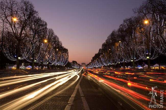 Champs Elysées at Christmas time