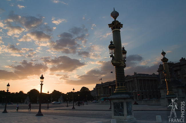 Sunset on the Place de la Concorde