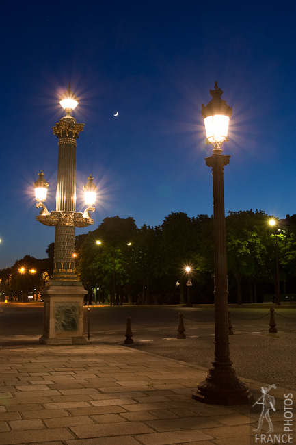 Street lights on Concorde Square