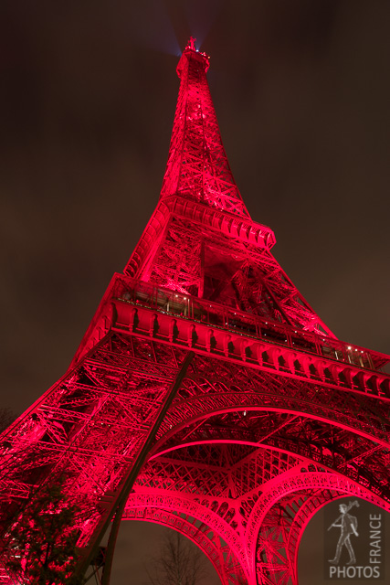 Eiffel tower in red