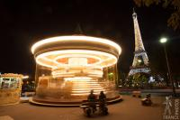The Eiffel Tower merry-go-round