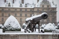 Snow on the cannons