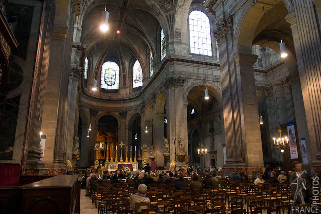 Saint Sulpice church nave and choir