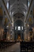 Inside the Saint Sulpice church