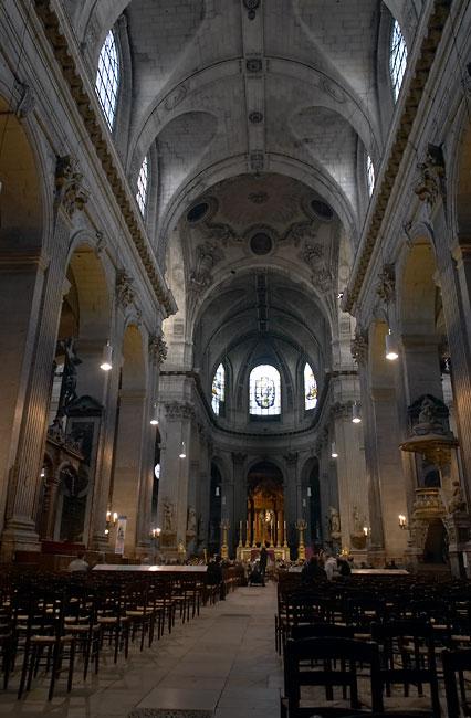 inside the saint sulpice church