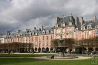 Place des Vosges on a Sunday morning