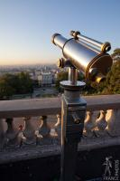 Montmartre view with tourist telescope